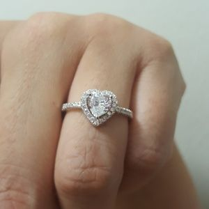 Jewelry - Sterling Silver CZ Heart Ring